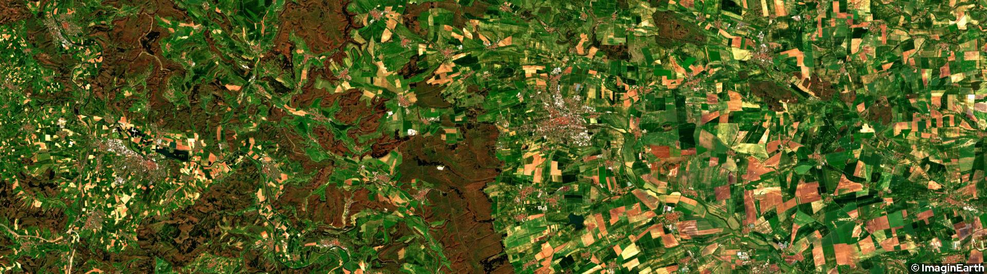 voyager en europe, allemagne, photo satellite