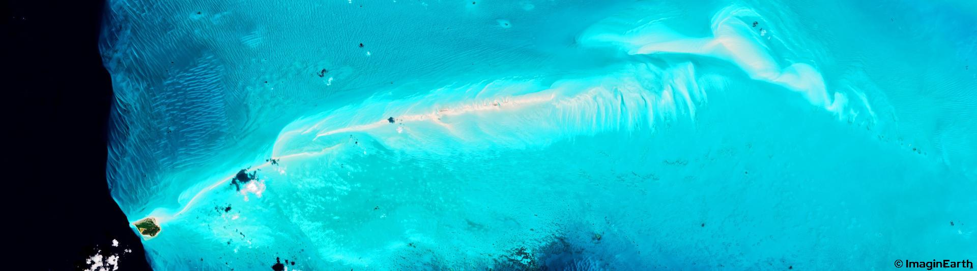 voyager iles bahamas belize, photo satellite