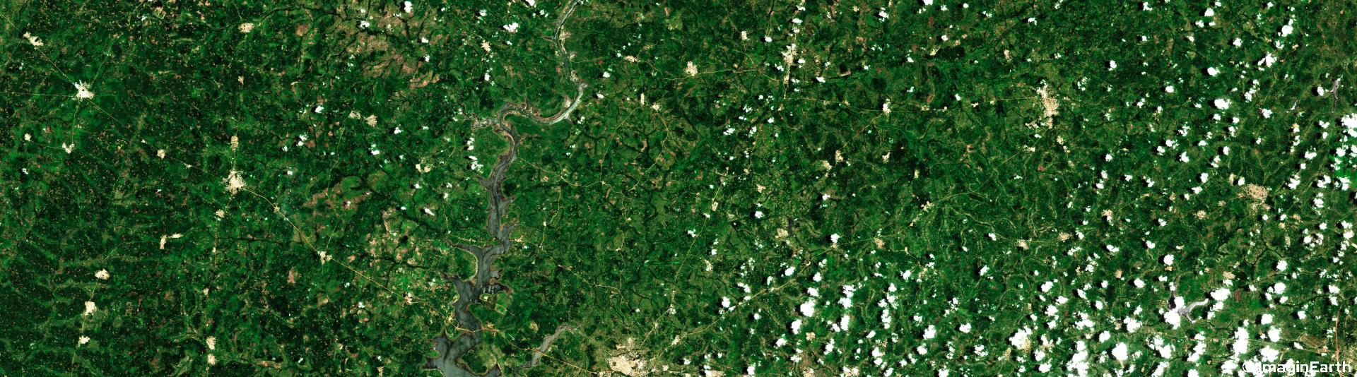 voyager au congo, côte d'ivoir, photo satellite