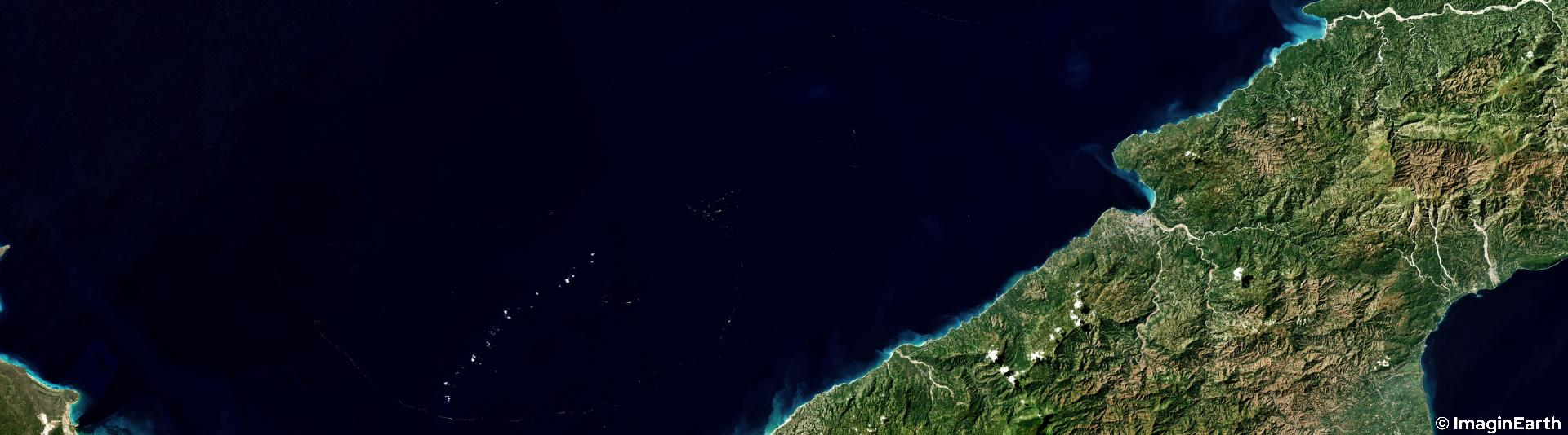 voyager ile, haïti, photo satellite