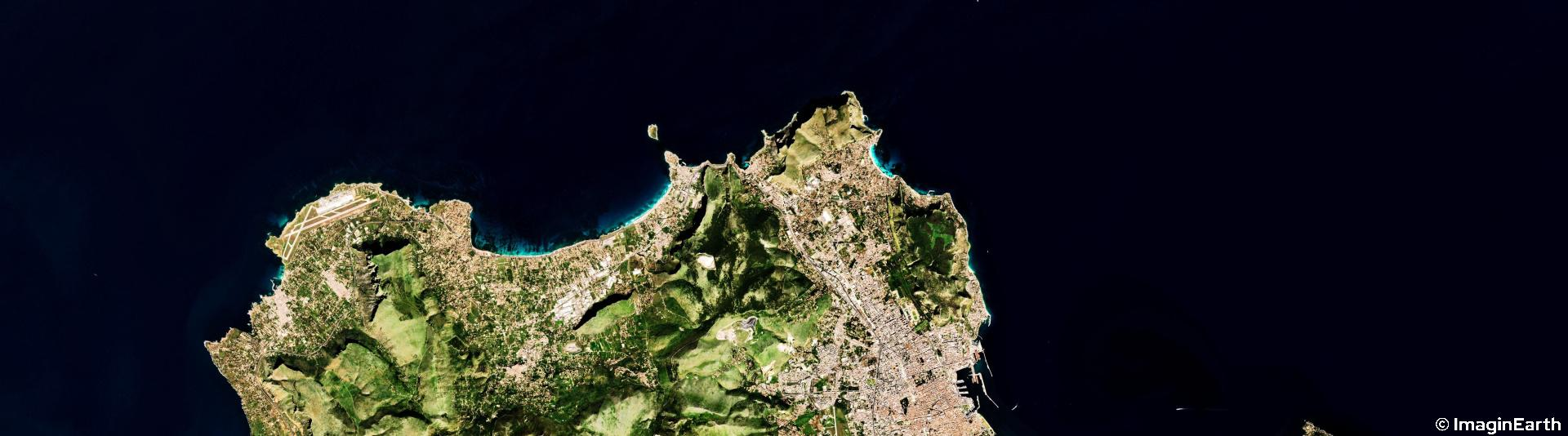photo satellite, Italie