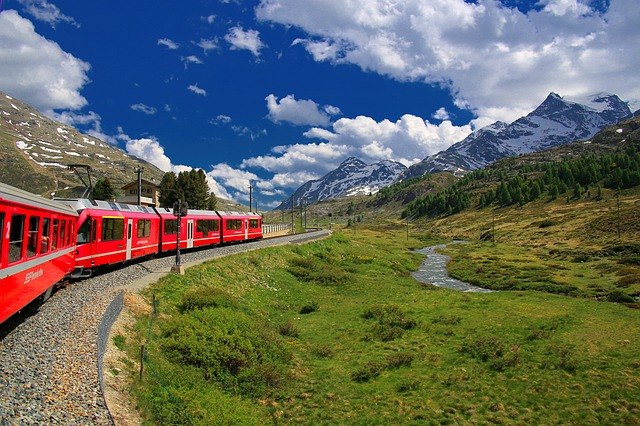 voyage en train, train travel, Suisse