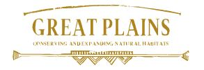 logo great plains, conserving and expanding natural habitats