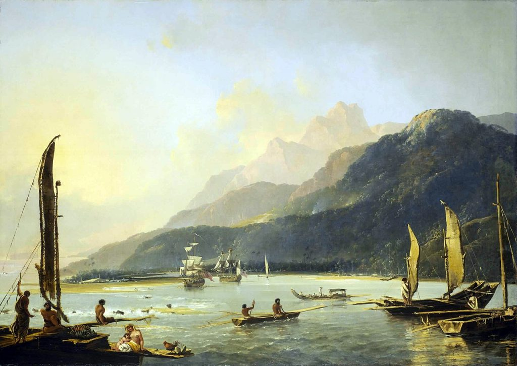 Painting of James Cook Vessels