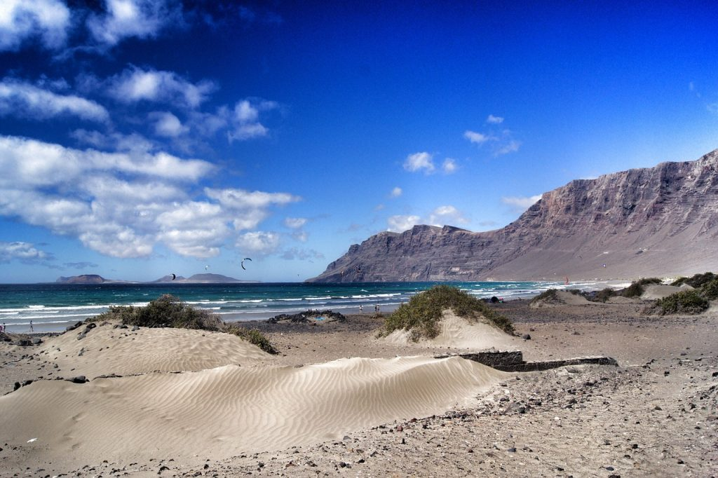 Playa Famara at Lanzarote